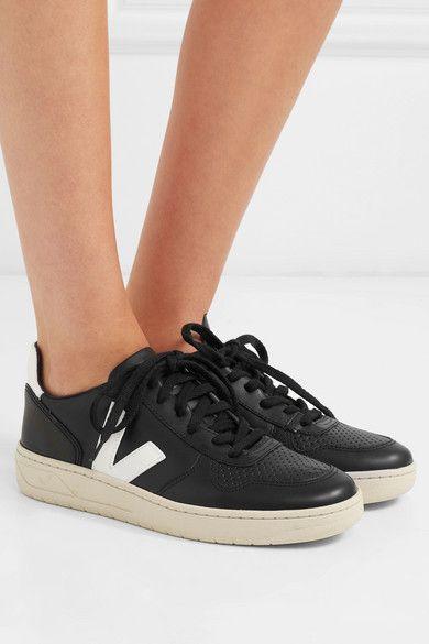 Black V-10 leather sneakers   Veja