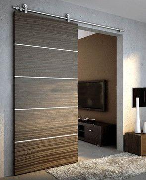 Modern Black Sliding Door Design Ideas