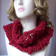 Popcorn Shell Cowl/Ear Warmer free #crochet pattern