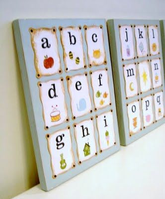 How to make alphabet art using mod podge.  Found via TipJunkie.com