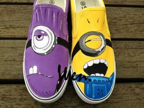 Wen Hand Painted Shoes Design Custom Minions Despicable Me