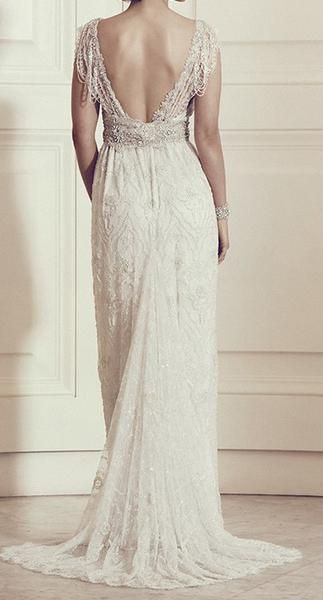 Vintage Lace Wedding Gown With Crystal Beaded Embellishment Art