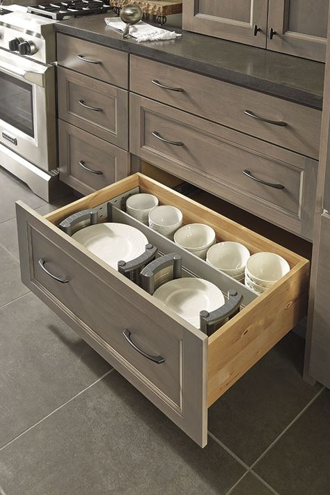 These Adjustable Plate Holders And Drawer Dividers Keep All Manner