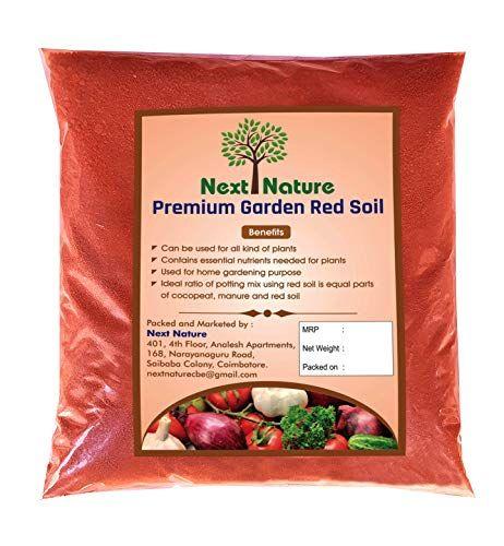 Next Nature Red Soil 5kg Natural Garden Organic Red Soil For Plants And Gardening Natural Garden Plant Food Soil