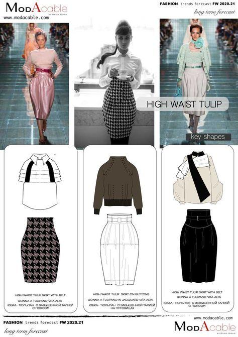 FW 2020.21 trend High waist tulip skirt