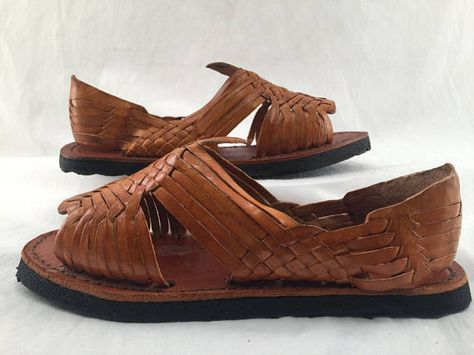 56e116a229ab MENS LEATHER HUARACHES Sandals made in mexico with tire sole ...