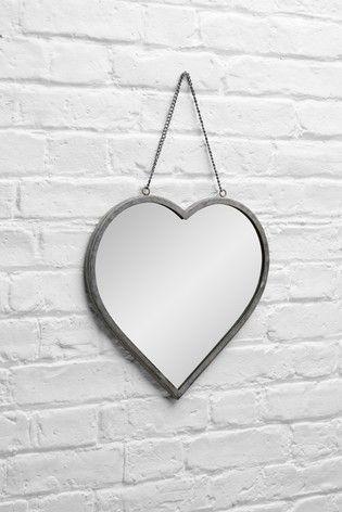 Buy Vintage Effect Heart Mirror From The Next Uk Online Shop Heart Mirror Mirror Overmantle Mirror