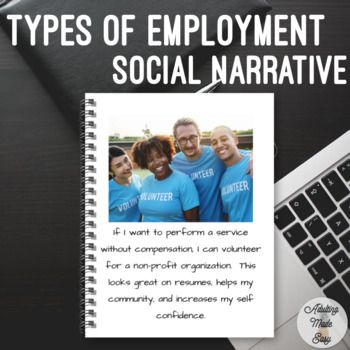 Unit 2 Types Of Employment Social Narrative Life Skills