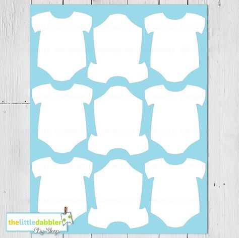 photo regarding Free Printable Baby Shower Labels identify Free of charge Printable Little one Onesie Template little one shower Youngster