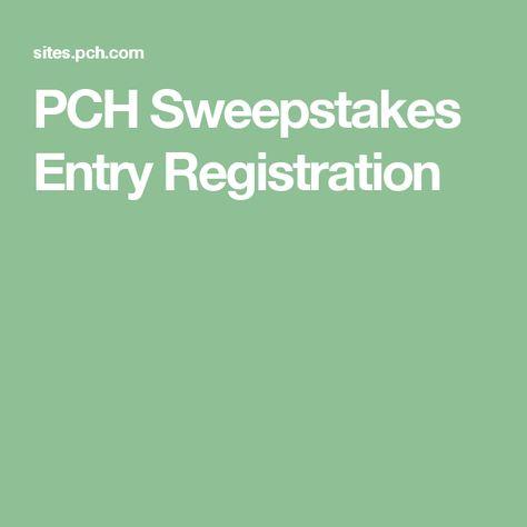 PCH Sweepstakes Entry Registration   Brendakerce@icloud.com ...