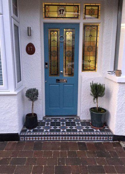 45 Ideas 1930s Front Door Porch Tiles For 2019 Victorian Front Doors Front Door Steps Porch Tile