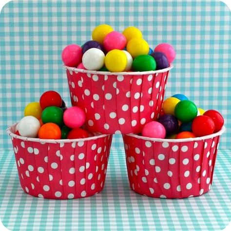 25 Red Polka Dot Nut Cups by HeyYoYo on Etsy, $5.00