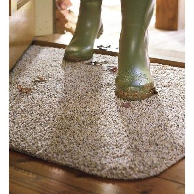 Large Microfiber Mud Rug Runner With Non Skid Backing 29 X 58 Taupe Plow Hearth Rugs How To Clean Carpet Diy Carpet Cleaner