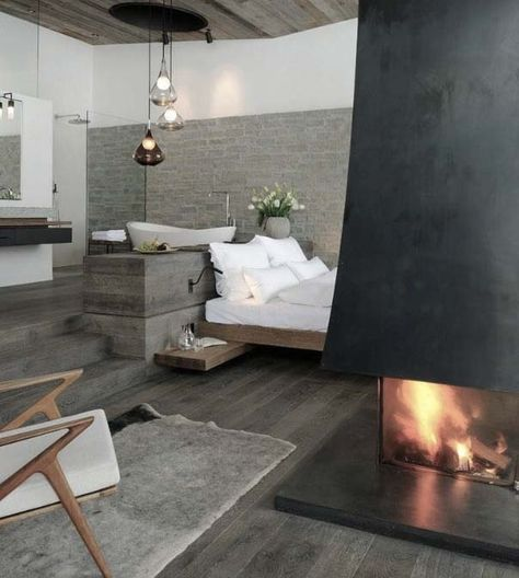 own your morning // interior // urban life // home decor // bedroom // city suite // urban men // luxury life // fire place // travel // holidays //