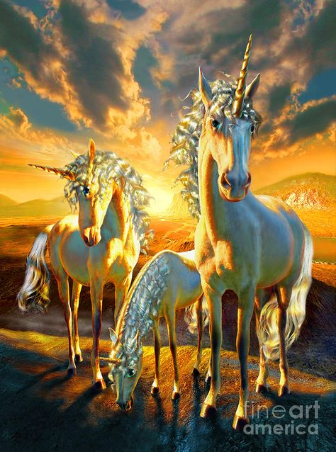 Adrian Chesterman Digital Art - The Last Unicorns by Adrian Chesterman