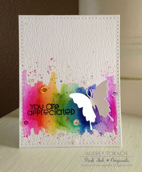 You Are Appreciated - Handmade Watercolor Card