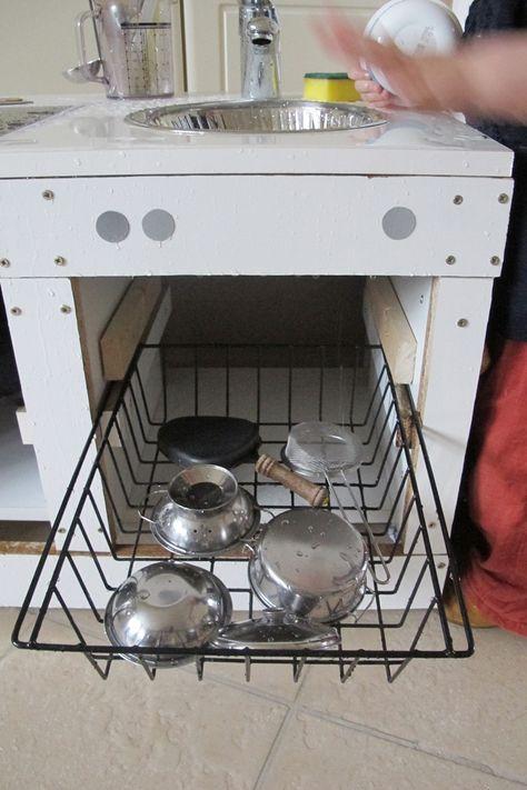 Upcycling Kinderküche Selber Bauen DIY Recycling Spülmaschine - küchen selber bauen