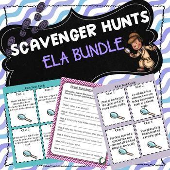 Ela Scavenger Hunts Bundle In 2021 Cause And Effect Activities Scavenger Hunt Inferencing Activities