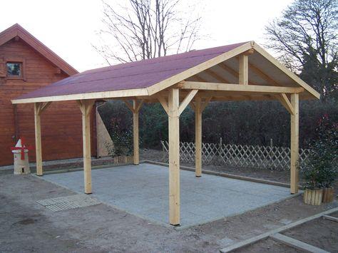 Abris de jardin bois   Carport voitures bois   Garage Bois   Auvent - monter un garage en bois