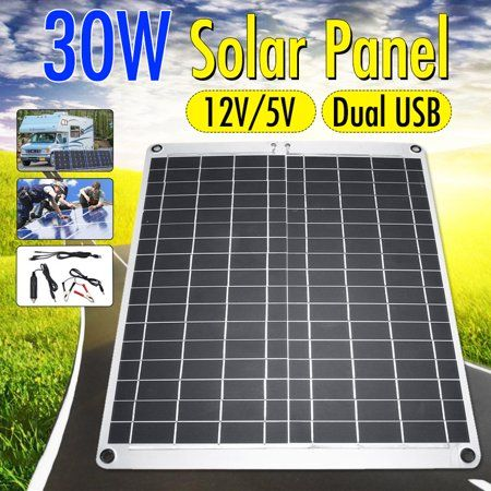 Flexible Semi Solar Panel 15w 20w 30w 40w 12v 5v Portable Controller Controlle Polysilicon Monocrystalline Silicon Off Grid Kit Waterproof For Car Battery Phon Solar Panels Best Solar Panels Solar