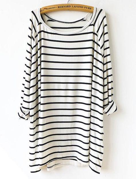slouchy striped t-shirt dress.