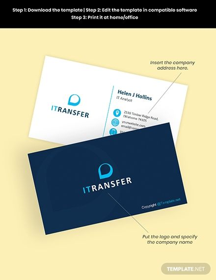 It Professional Business Card Template Illustrator Word Apple Pages Psd Pdf Template Net Professional Business Cards Professional Business Cards Templates Corporate Business Card