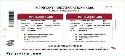 Auto Insurance Card Template Free Download Ideal Vistalist Co
