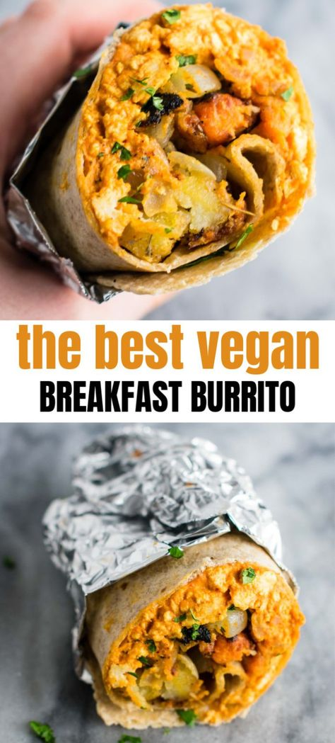 the best vegan breakfast burritos with scrambled tofu and crispy vegan breakfast. - the best vegan breakfast burritos with scrambled tofu and crispy vegan breakfast hash. Best Vegan Breakfast, Tofu Breakfast, Vegan Breakfast Recipes, Best Breakfast Burritos, Breakfast Potatoes, Vegan Breakfast Casserole, Breakfast Ideas, Healthy Vegetarian Breakfast, Frozen Breakfast