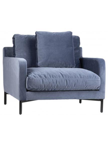 Delamo 1 Seat Sofa In 2020 Single Seat Sofa Light Blue Chair Lounge Chair
