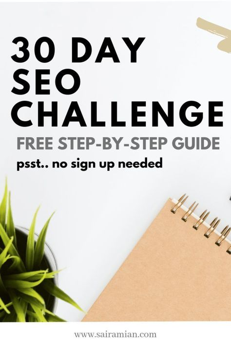 30 Day SEO Challenge - Get Results for Free