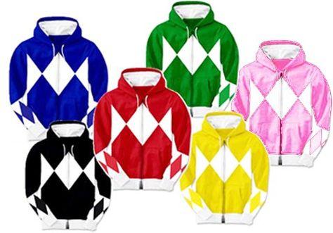 I WANT IT!!!  Power Rangers Hooded Costume Adult Hooded Sweatshirt Hoodie -Pre-Sale. Ships  9/12/12 $52.99