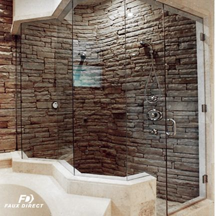 Waterproof and moisture resistant-- you can install faux wall ...