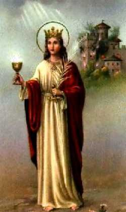 St Barbara S Day Dec 4th Cherry Blossoms For Good Fortune Saint Barbara Saints Santa Barbara