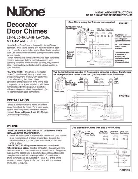 Nutone Clock Door Chime Wiring Diagram gallery | Diagram, Chimes, ClockPinterest