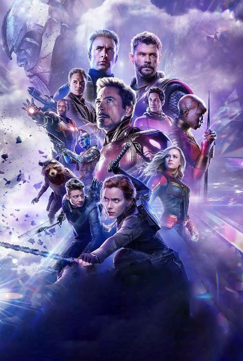 Avengers Endgame Russian Poster Textless Version Marvel марвел