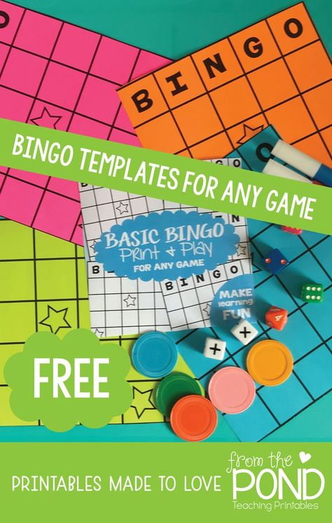 Free Bingo Board Editable For Any Content Teaching Bingo