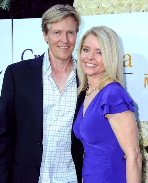 LR Actor Jack Wagner and wife Kristina Wagner attend the 2015 Summer TCA Tour Hallmark Channel and Hallmark Movies And Mysteries on July 29 2015 in...