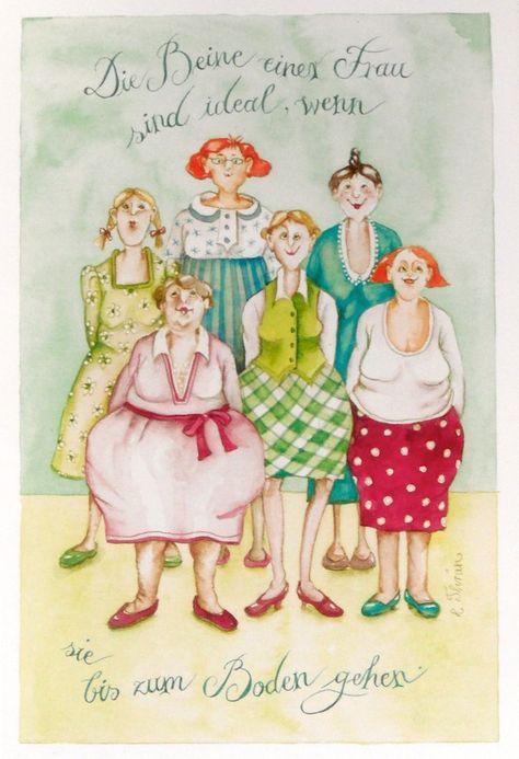 Christina Thran Briefkarte Die Beine Einer Frau Alte Frauen