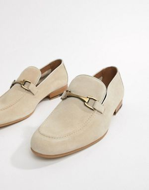 de6c61c77 River Island suede loafers in stone | Vegas for KC in 2019 | Mens ...