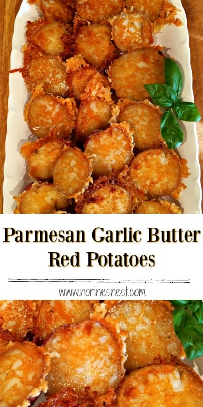 Tender Baby Red Potatoes baked with a crispy garlic butter and Parmesan Cheese coating. Loaded with flavor and easy to make. Sure to become a family favorite.