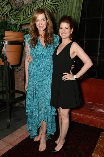 Allison Janney and Debra Messing attend the Gersh Upfronts Party 2018 at The Bowery Hotel.