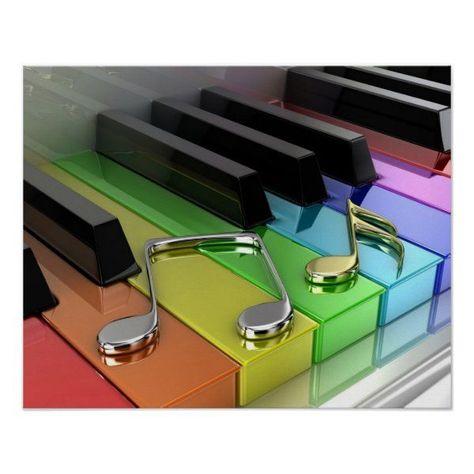 Music Piano Poster | Zazzle.com