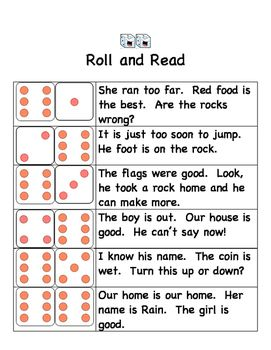2nd Grade Roll and Read National Reading Vocabulary | School