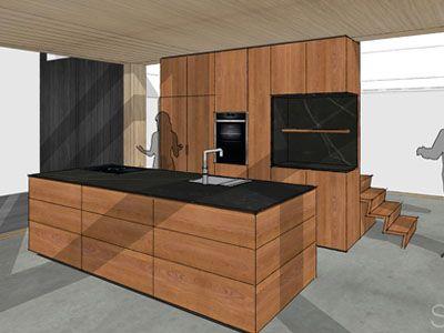 Massief Kersenhouten Sidetable.Kersenhouten Keuken Te Groningen Modern Kitchen In 2019
