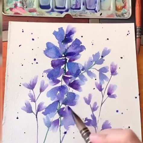 """The spontaneous and fluid look in watercolor painting only occurs when one mixes the colors like a sauce, then paints without looking back!"" Joseph Gyurcsak  Follow👣 us for more stunning artworks By @its_art_oclock 💫  Follow us on: 👉FB /NiLTechClub🎨 👉IG @love_to_draw_nil 🎨 ✔️For More Great works ✔️Chance to get featured  #art #love #drawing #draw #picture #artist #pen #pencil #beautiful #masterpiece #graphic #graphics #color #niltech #watercolor #watercolour #flower #flowerdrawing"