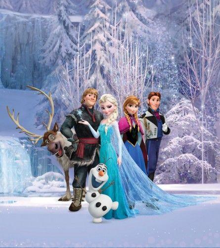 XXL Photo Wallpaper Mural Disney Frozen Elsa Olaf order online