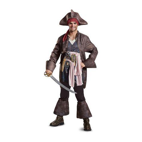High Seas Bandit Pirate Swashbuckler Mens Adult Costume White Standard Plus Size