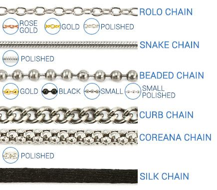Necklace Chain Style Chart  Bing Images  Reference Guide For