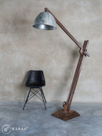 Lampe Industrielle Sur Pied Acrobat Lampe Industrielle Relooking De Lampe Luminaire Bois