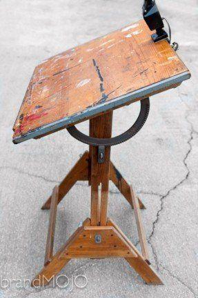 Vintage Industrial Anco Bilt Drafting Antique Drafting Table